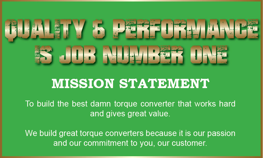 Quality and performance is job number one